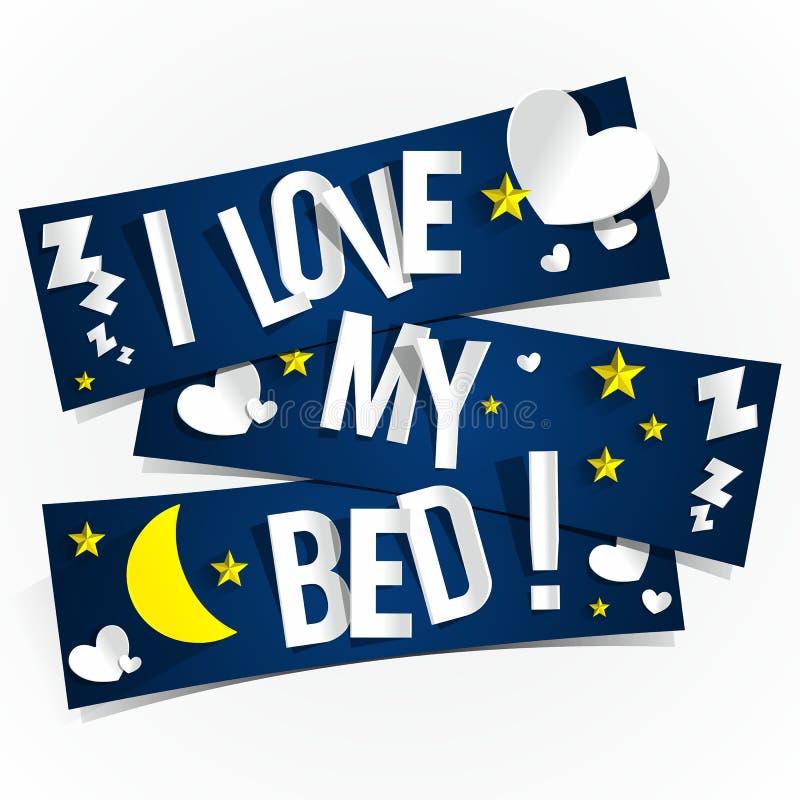 J'aime mon lit illustration de vecteur