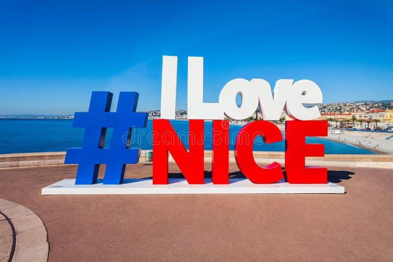 J'aime Nice le signe, France photo stock
