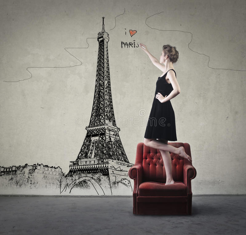 j'aime Paris illustration stock