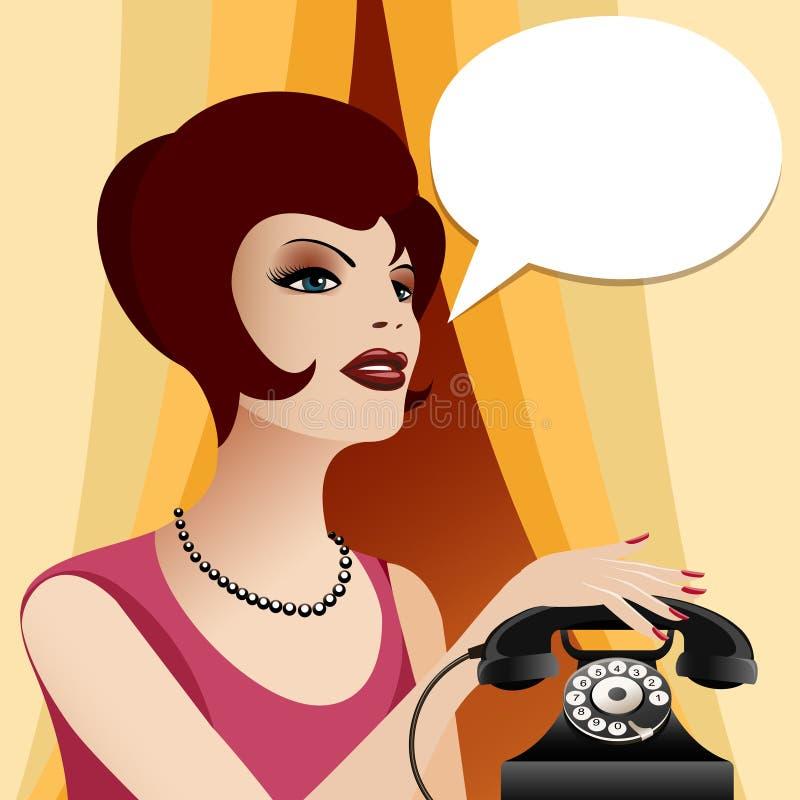Download J'appelle le femme illustration de vecteur. Illustration du instrument - 56481754