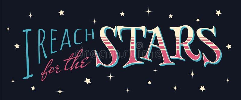 J'atteins pour les étoiles illustration de vecteur