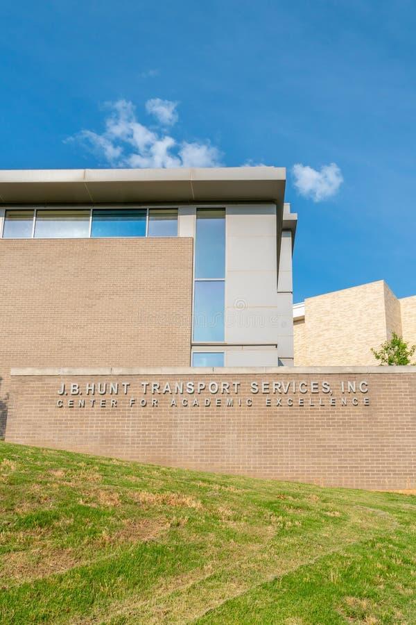 J B Hunt Center para la excelencia académica en la universidad de Arkans imagen de archivo libre de regalías