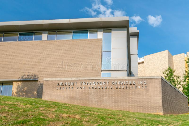J B Hunt Center para la excelencia académica en la universidad de Arkans fotografía de archivo libre de regalías