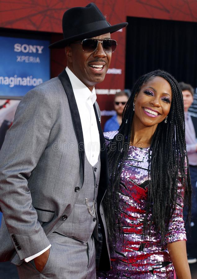 J. B. Smoove, Shahidah Omar. J. B. Smoove and Shahidah Omar at the World premiere of `Spider-Man Far From Home` held at the TCL Chinese Theatre in Hollywood, USA stock images