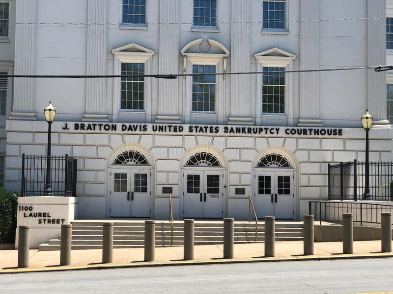 J Bratton Davis United States Bankruptcy Courthouse auf Laurel St in Kolumbien, Sc lizenzfreie stockfotos