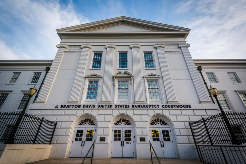 J Bratton Davis United States Bankruptcy Courthouse, in Colu fotografie stock libere da diritti