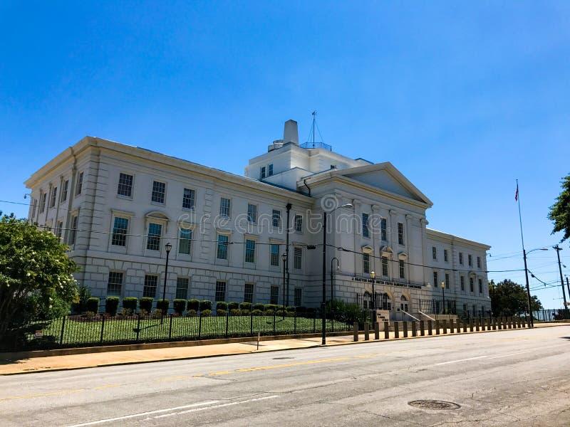 J Bratton Davis United States Bankruptcy Courthouse em Laurel St em Colômbia, SC imagem de stock