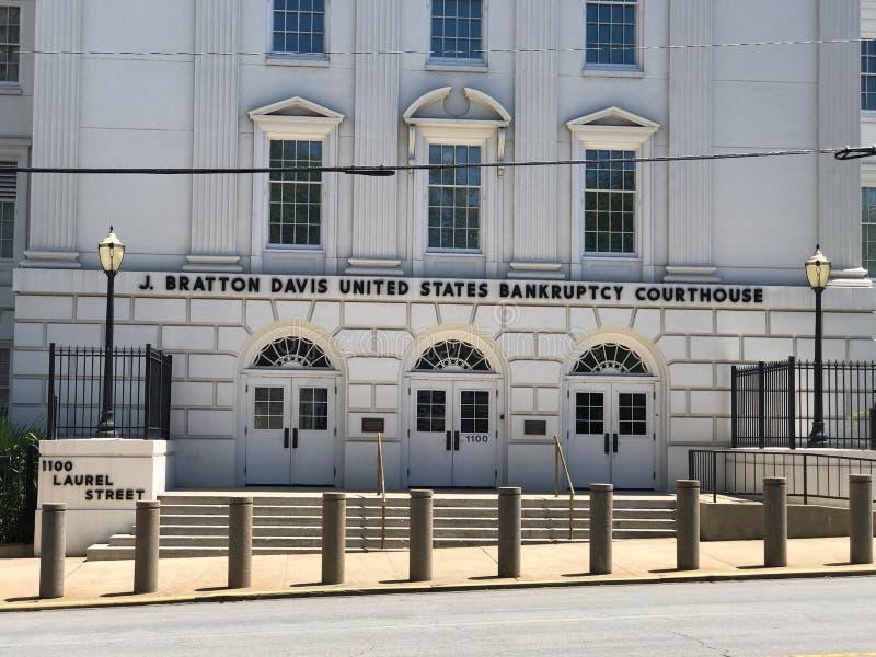 J Bratton Davis United States Bankruptcy Courthouse em Laurel St em Colômbia, SC fotos de stock royalty free