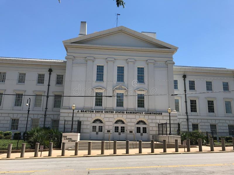 J Bratton Davis United States Bankruptcy Courthouse en Laurel St en Columbia, SC fotos de archivo
