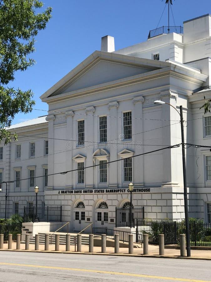 J Bratton Davis United States Bankruptcy Courthouse en Laurel St en Columbia, SC fotografía de archivo libre de regalías