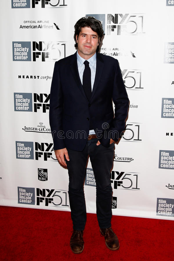 J.C. Chandor. NEW YORK- OCT 8: Director J.C. Chandor attends the premiere of All Is Lost at the 51st annual New York Film Festival at Alice Tully Hall at Lincoln stock photography
