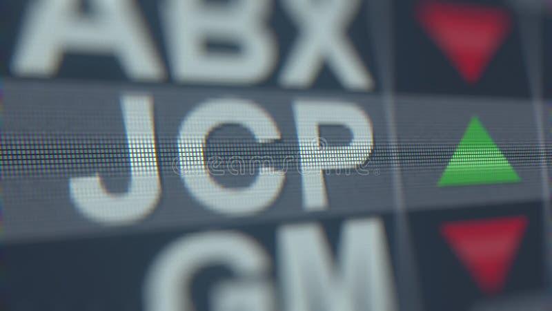 J C Relógio conservado em estoque de PENNEY JCP, rendição 3D editorial conceptual ilustração do vetor