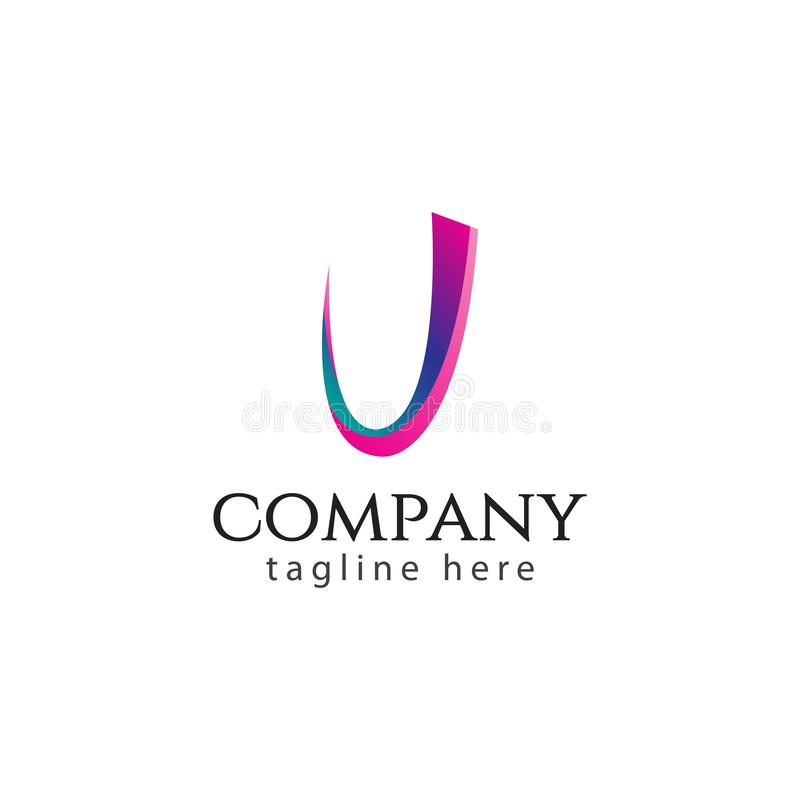 J Company Logo Vector Design Illustration vektor abbildung