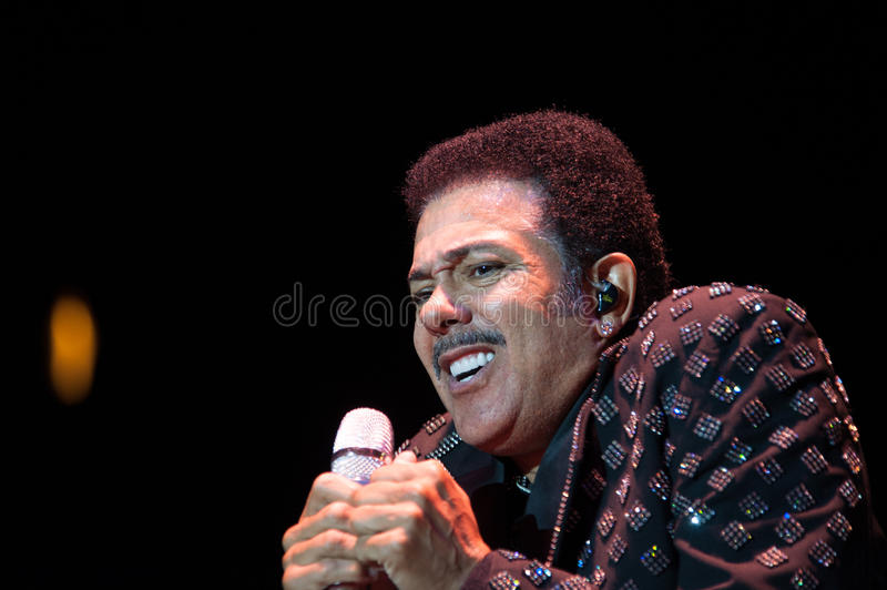J.D. Nicholas. CITRUS HEIGHTS, CA – September 8: J.D. Nicholas with The Commodores performs at Sunrise Marketplace in Citrus Heights, California on royalty free stock image