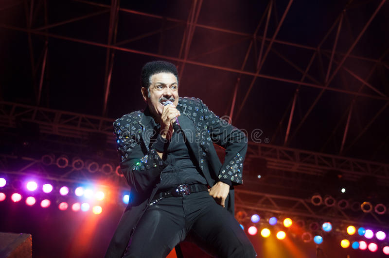 J.D. Nicholas. CITRUS HEIGHTS, CA – September 8: J.D. Nicholas with The Commodores performs at Sunrise Marketplace in Citrus Heights, California on stock photo