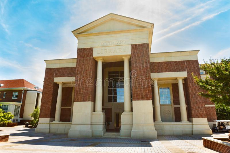 J d Williams Library en Ole Miss imagen de archivo