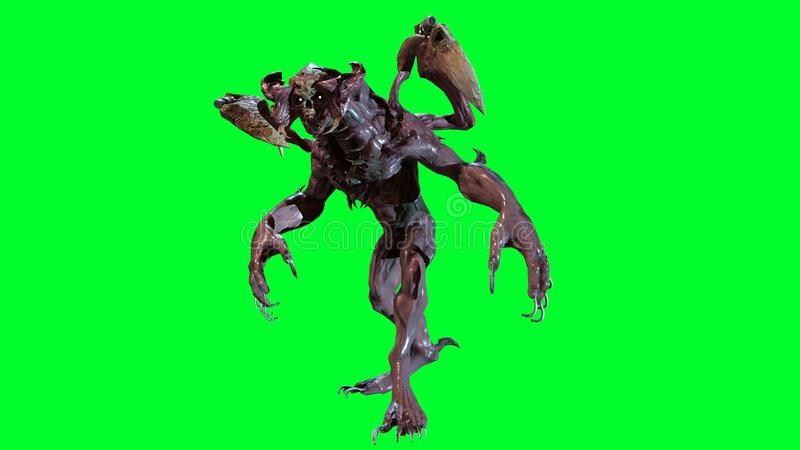 J?drowy apokalipsa mutant 3d odp?aca si? royalty ilustracja