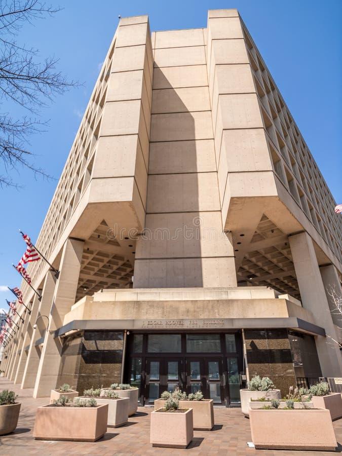 J. Edgar Hoover FBI Building on Pennsylvania Avenue, Washington DC, United States. Wide angle shot of the J.Edgar Hoover FBI Building in Washington D.C royalty free stock images