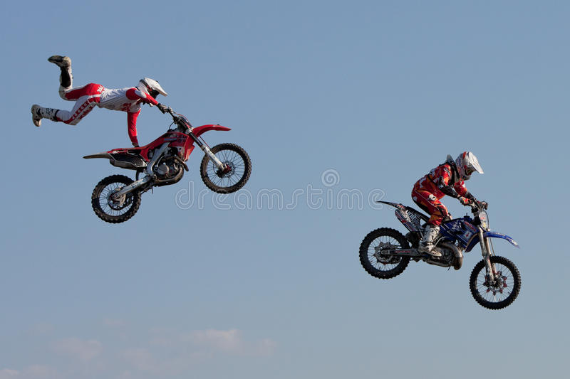 Download J. Grindrod And D. Wiggins, Motocross Riders Editorial Stock Photo - Image of jump, dangerous: 25058873