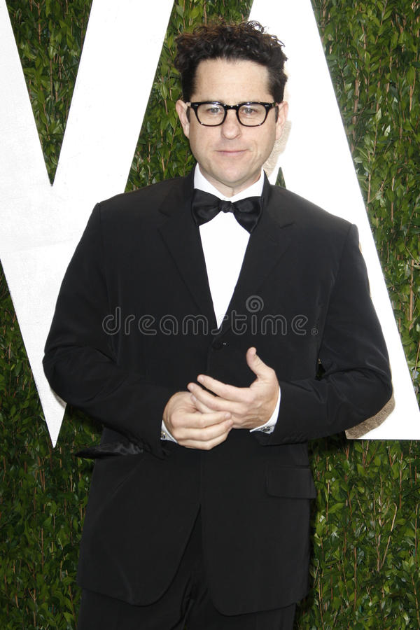 J.J. Abrams. LOS ANGELES - FEB 26: J.J. Abrams arrives at the 2012 Vanity Fair Oscar Party at the Sunset Tower on February 26, 2012 in West Hollywood, CA stock image
