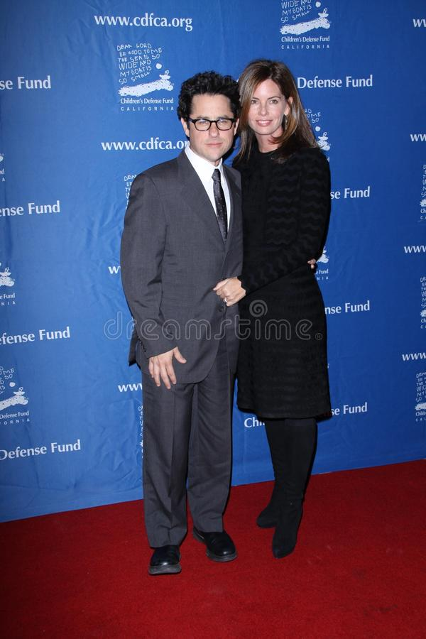 J J Abrams. J.J. Abrams and Katie McGrath at the Children's Defense Fund California's 20th Annual Beat The Odds Awards, Beverly Hills Hotel, Beverly Hills, CA stock image