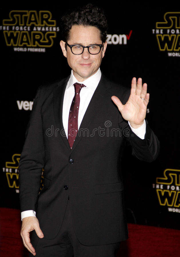 J.J. Abrams. HOLLYWOOD, CA - J.J. Abrams at the World premiere of 'Star Wars: The Force Awakens' held at the TCL Chinese Theatre in Hollywood, USA on December 14 stock image