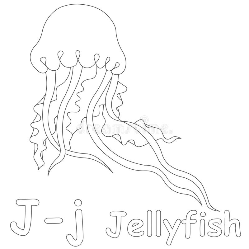 download j for jellyfish coloring page stock illustration illustration of small book 39701559 - Jellyfish Coloring Page