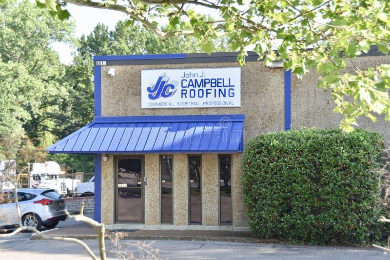 j john york Campbell Roofing Memphis, TN royaltyfri bild