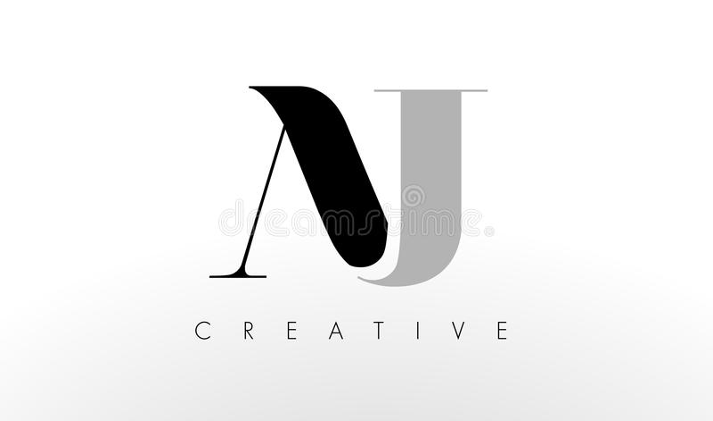J listu loga projekt Kreatywnie AJ list ikona ilustracja wektor