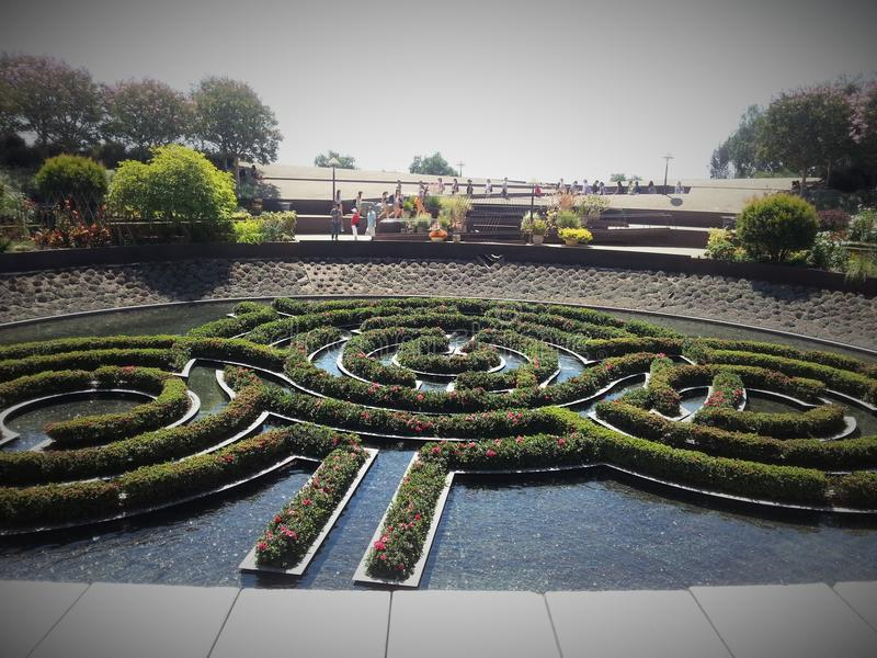 J. Paul Getty water garden royalty free stock photography