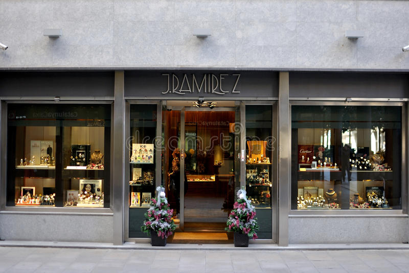 J. Ramirez Store in Spagna fotografia stock libera da diritti