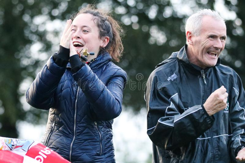 J A Rzucać mistrzostwo: Sarsfield VS Watergrasshill w Carrignavar, Irlandia obrazy stock