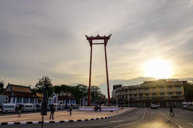 J?tte- gunga i Bangkok, Thailand arkivbilder