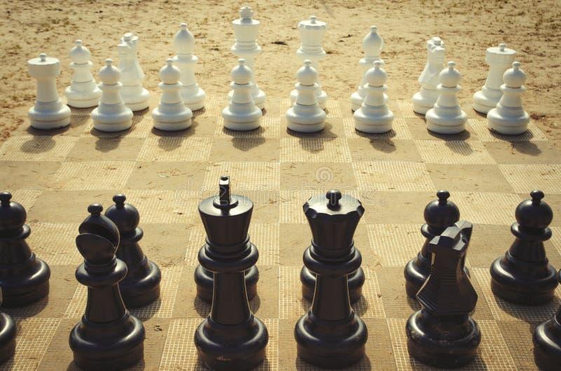 J?tte- schack arkivfoton