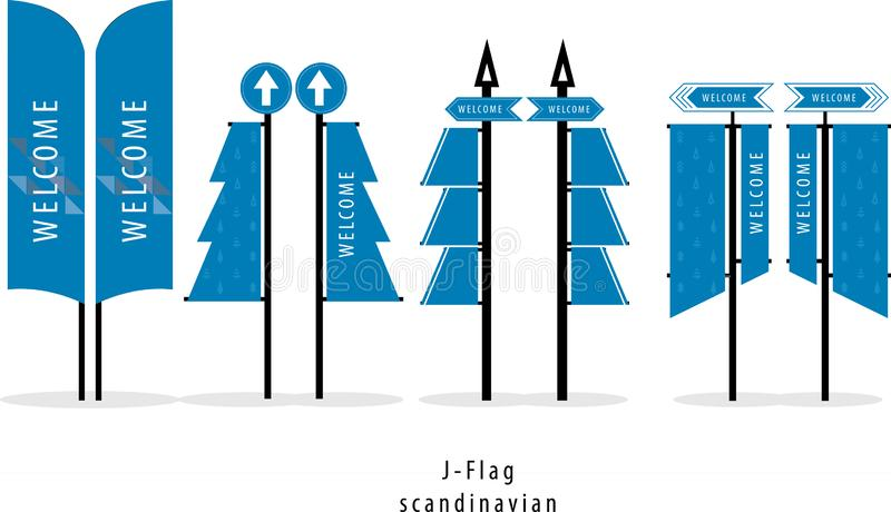 J-vlag, Vlag, Skandinavische, Noordse stijl, Kerstmisvakantie van de de Wintervakantie Het breien Sweaterontwerp royalty-vrije stock foto's