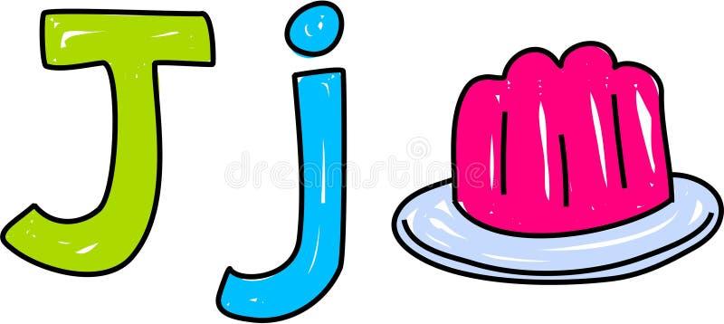 J is voor gelei royalty-vrije illustratie