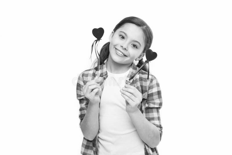 J'? vous Cadeau ou pr?sent de coeur Salutation du coeur sinc?re Amour mignon de symbole de coeur de prise d'enfant de fille c?l?b photo libre de droits