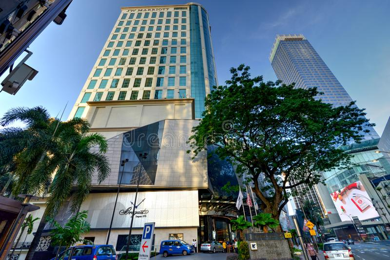 J W Marriot Kuala Lumpur. Located along Bintang Walk in the Golden Triangle, JW Marriott Hotel, Kuala Lumpur offers accommodations within the hustle and bustle royalty free stock image