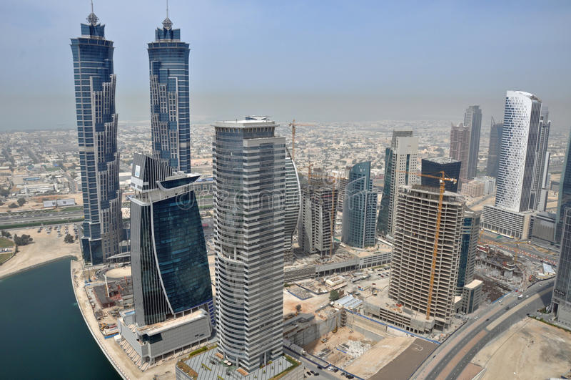 J.W.Marriott Hotel @ Business Bay Area in Dubai. J.W. Marriott Marquis Hotel @ Business Bay Area in Dubai, United Arab Emirates stock photography