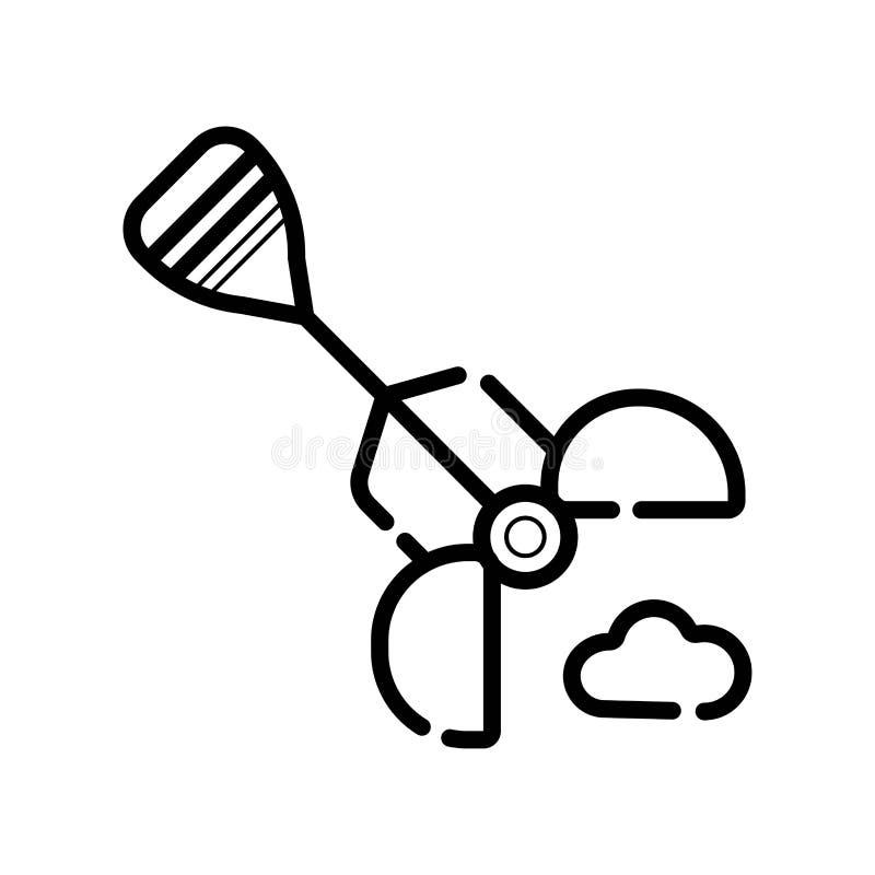 Jałowy ikona wektor royalty ilustracja