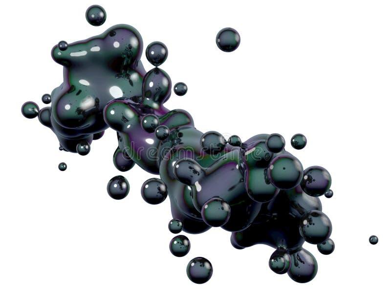 Jałowy olej royalty ilustracja