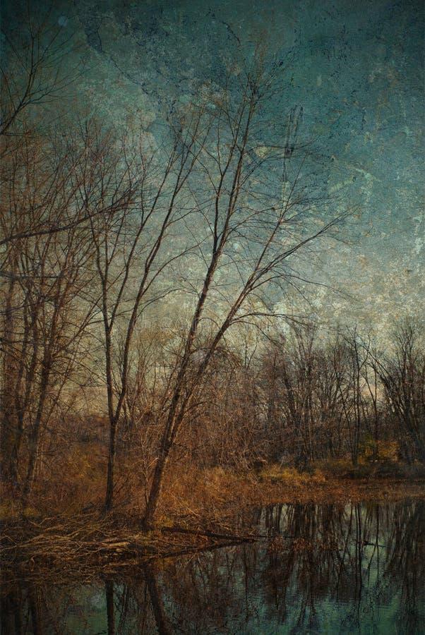 jałowy wizerunek lubi obraz olejny drzewa fotografia stock