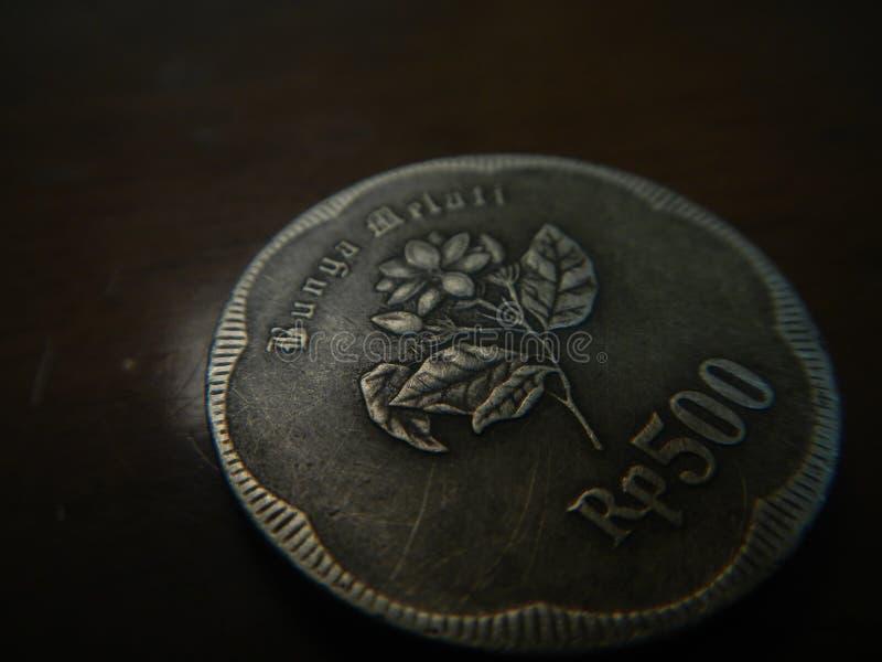 Jaśminowy kwiat grawerujący przy rupii wyznaniami 1991 zdjęcia stock