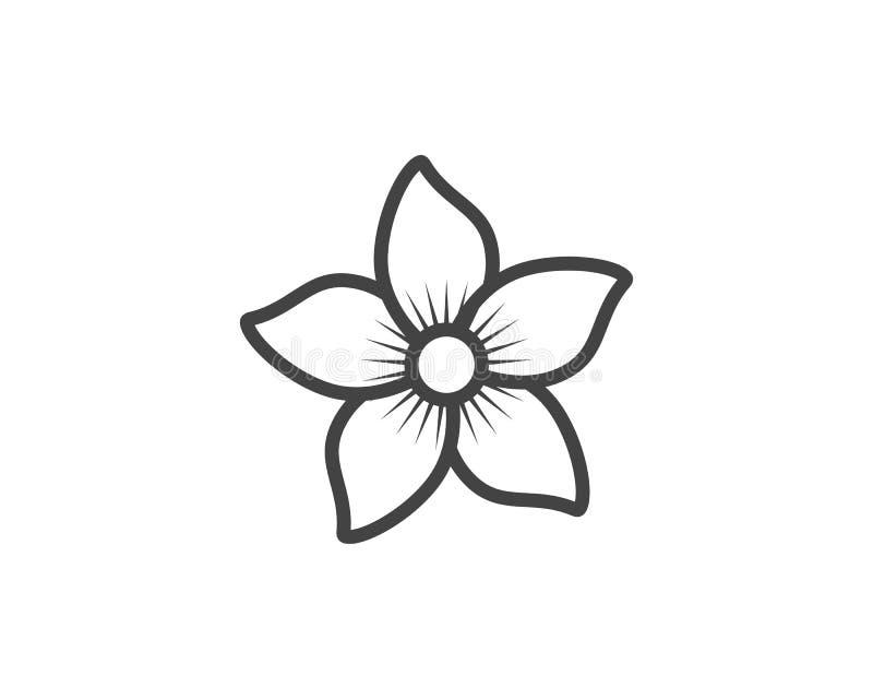 Jaśminowy kwiat ikony loga szablon royalty ilustracja