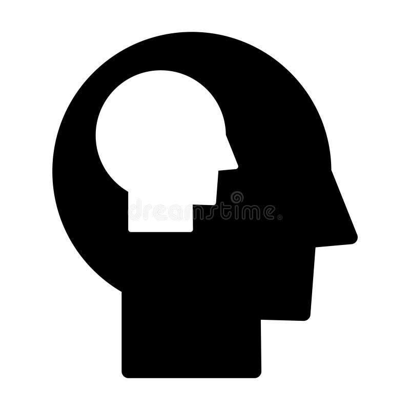 Jaźń - świadomości ikona, wektorowa ilustracja royalty ilustracja