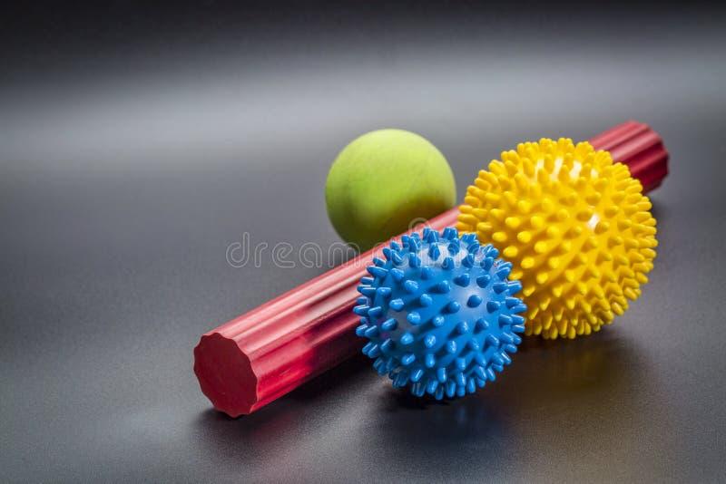 Jaźń masażu i refleksologii terapii piłki fotografia royalty free