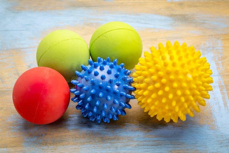 Jaźń masażu i refleksologii terapii piłki zdjęcie royalty free
