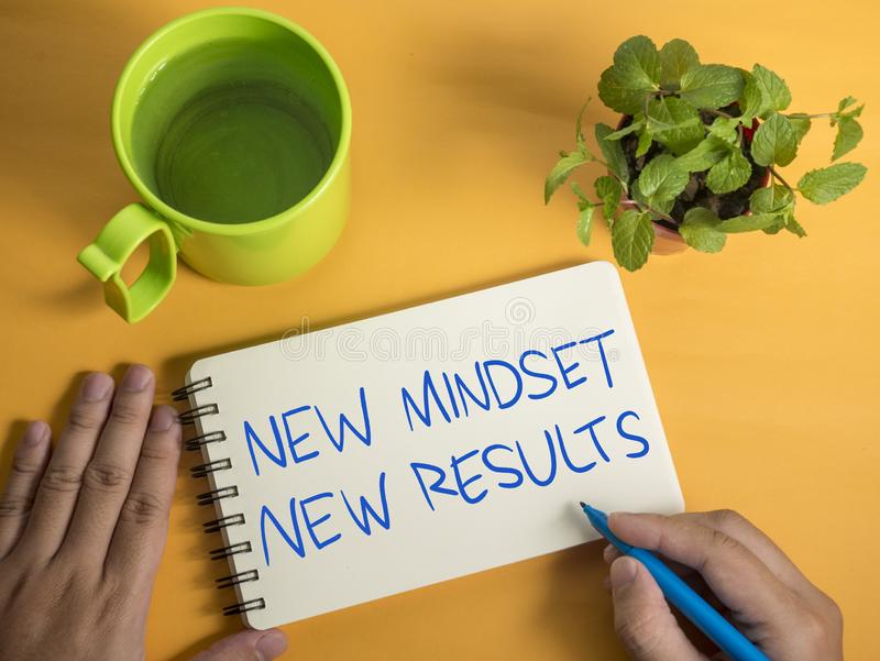 Jaźń rozwoju słów wycen Motywacyjny pojęcie, Nowy Mindset rezultat ilustracja wektor