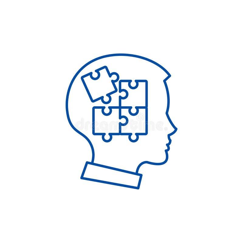 Jaźni dyscypliny linii ikony pojęcie Jaźni dyscypliny płaski wektorowy symbol, znak, kontur ilustracja royalty ilustracja