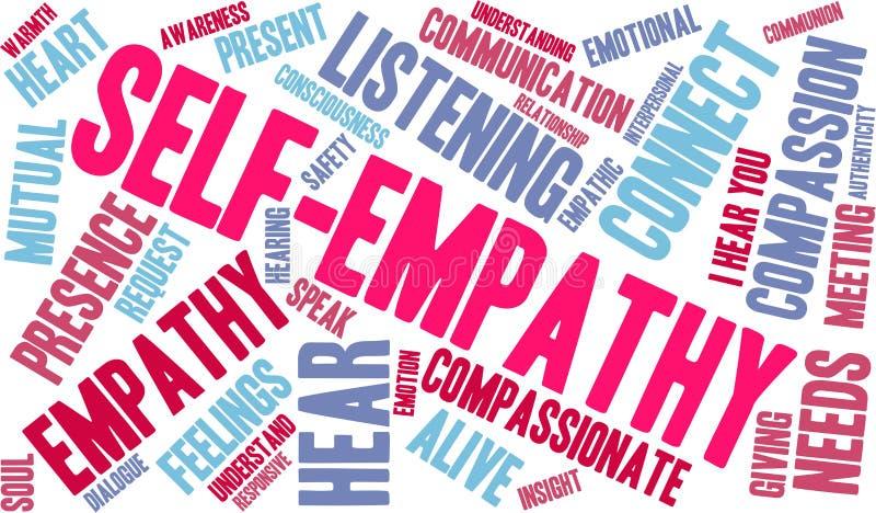 Jaźni empatii słowa chmura royalty ilustracja